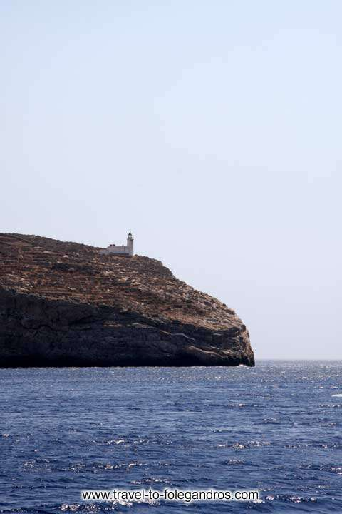 View of Aspropounta Lighthouse FOLEGANDROS PHOTO GALLERY - Aspropounta Lighthouse by Ioannis Matrozos