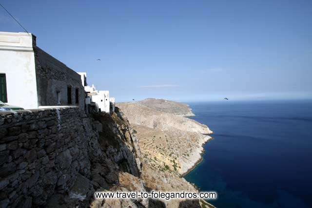 FOLEGANDROS PHOTO GALLERY - Kastro east walls by Ioannis Matrozos