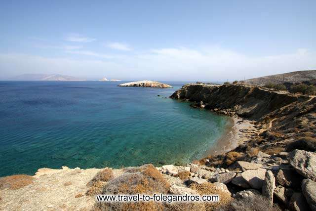 Panoramic view of Pountaki beach FOLEGANDROS PHOTO GALLERY - Pountaki Beach by Ioannis Matrozos