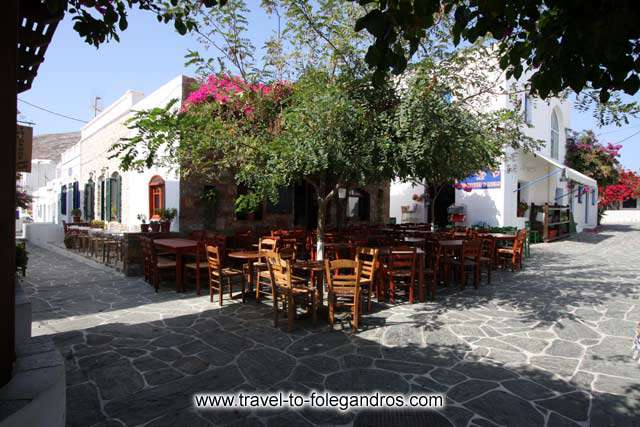 FOLEGANDROS PHOTO GALLERY - Maraki square by Ioannis Matrozos