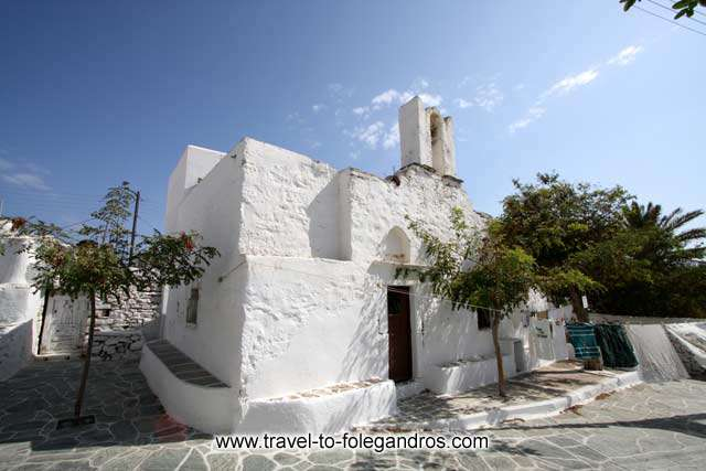 Agios Grigorios - View of Agios Grigorios (St Gregory) church in Hora, Folegandros by Ioannis Matrozos