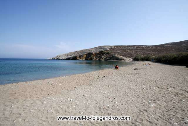 The sandy beach of Livadi next to Karavostasis FOLEGANDROS PHOTO GALLERY - Livadi Beach by Ioannis Matrozos