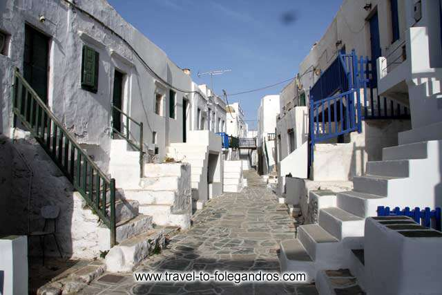 View of the first pathway inside Folegandros castle, that ends at Pantanassa church. <br>It is one of the famous pictures of Folegandros island. FOLEGANDROS PHOTO GALLERY - Folegandros Chora Castro by Ioannis Matrozos