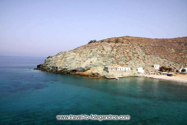 Small summer houses at Agios Georgios beach FOLEGANDROS PHOTO GALLERY - Agios Georgios Beach by Ioannis Matrozos