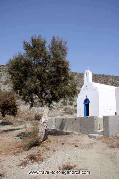 The small chapel of Agios Georgios on the homonymous beach FOLEGANDROS PHOTO GALLERY - Agios Georgios church by Ioannis Matrozos