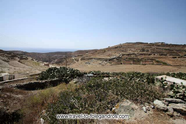 View of the dry landscape of Ano Meria FOLEGANDROS PHOTO GALLERY - Ano Meria by Ioannis Matrozos