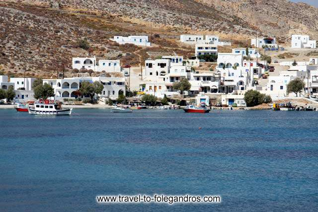 View of the fishing boats in Karavostassis bay and  Chochlidia beach on the background FOLEGANDROS PHOTO GALLERY - Boats in Karavostassis by Ioannis Matrozos