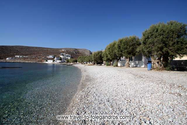 View of the pine trees on Chochlidia beach FOLEGANDROS PHOTO GALLERY - Chochlidia beach by Ioannis Matrozos