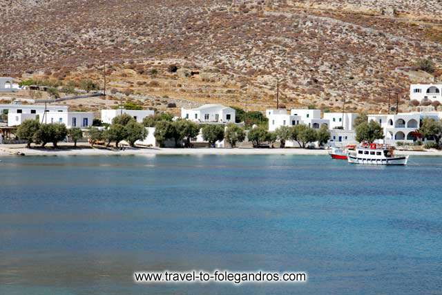 View of Chochlidia beach from the sea FOLEGANDROS PHOTO GALLERY - Chochlidia beach by Ioannis Matrozos