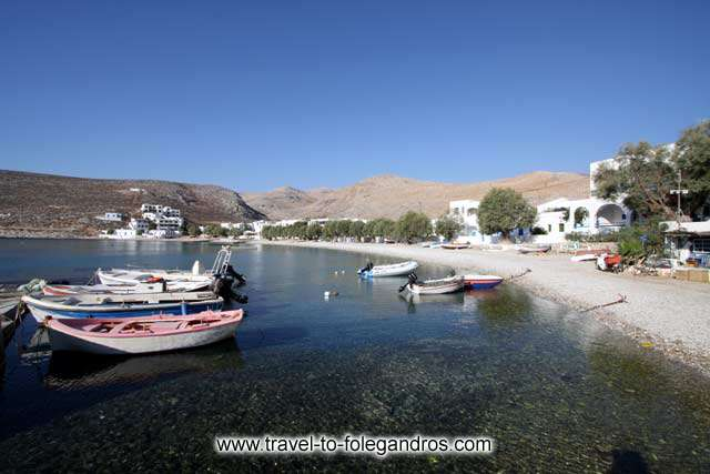 Fishing boats at Chochlidia beach FOLEGANDROS PHOTO GALLERY - Chochlidia beach by Ioannis Matrozos