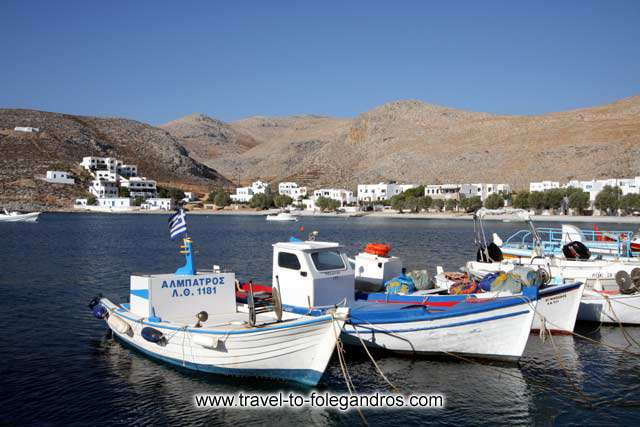 Fishing boats in Karavastasis small port FOLEGANDROS PHOTO GALLERY -  Fishing boats by Ioannis Matrozos