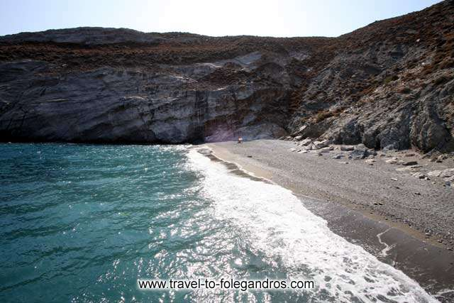 The north part of Katergo beach FOLEGANDROS PHOTO GALLERY - Katergo beach by Ioannis Matrozos