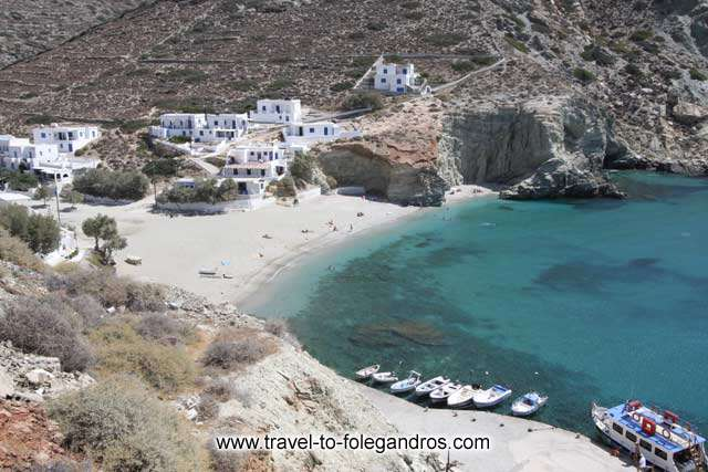 View of Agali and Mikri Agali beach from the north FOLEGANDROS PHOTO GALLERY - Agali beach by Ioannis Matrozos