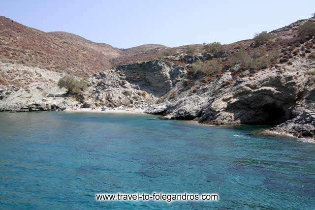 View of Ambeli beach from the sea FOLEGANDROS PHOTO GALLERY - Ambeli beach by Ioannis Matrozos