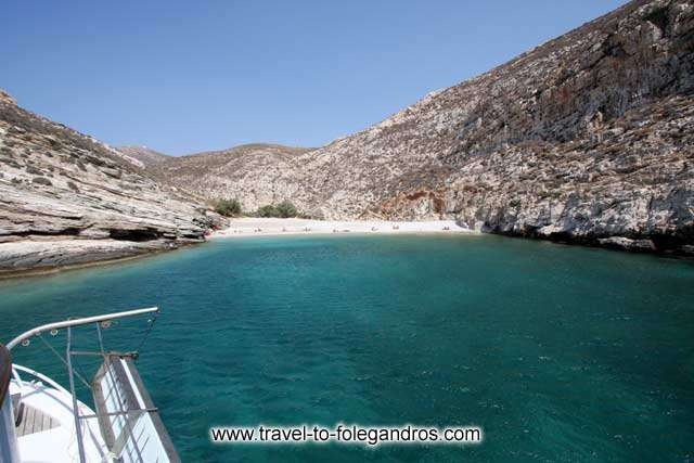 View of Livadaki beach from the sea FOLEGANDROS PHOTO GALLERY - Livadaki beach by Ioannis Matrozos