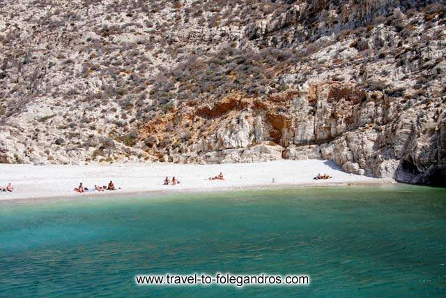 Livadaki beach is ideal for those looking to avoid the crowd FOLEGANDROS PHOTO GALLERY - Livadaki beach by Ioannis Matrozos