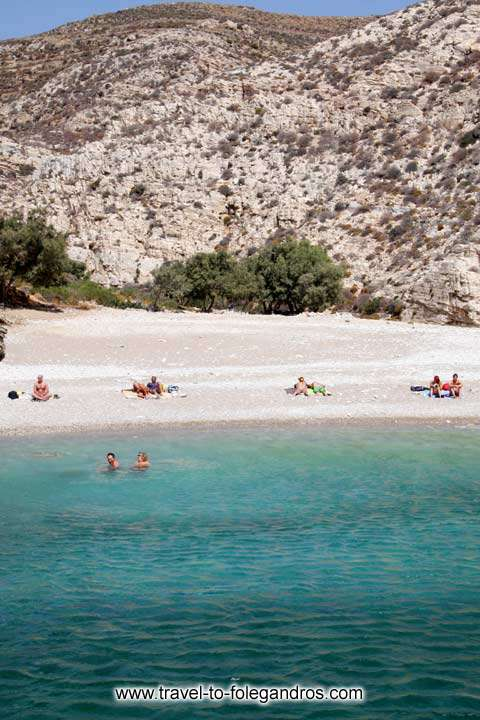 Sunbathing on the beach FOLEGANDROS PHOTO GALLERY - Livadaki beach by Ioannis Matrozos
