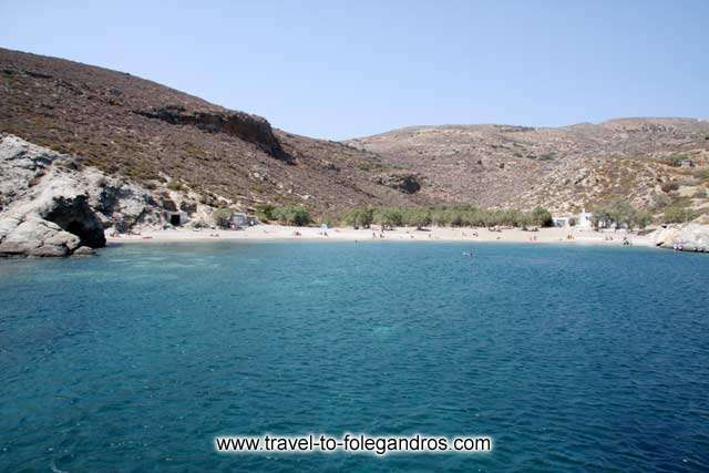 View of Agios Nikolaos from the sea on the small tour boat FOLEGANDROS PHOTO GALLERY - Agios Nikolaos by Ioannis Matrozos