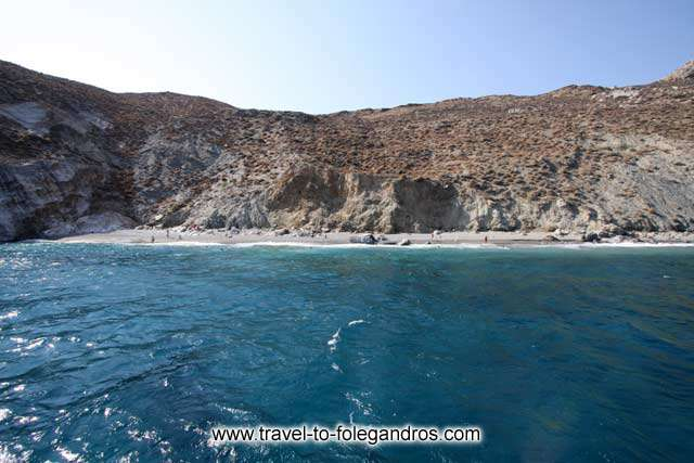 View of Katergo beach from the boat FOLEGANDROS PHOTO GALLERY - Katergo beach by Ioannis Matrozos