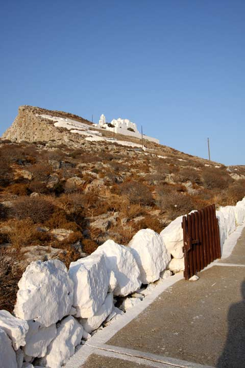 View of the pathway up to Virgin Mary monastery FOLEGANDROS PHOTO GALLERY - Panagia by Ioannis Matrozos