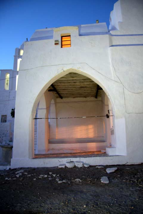 Panagia - The entrance to the church