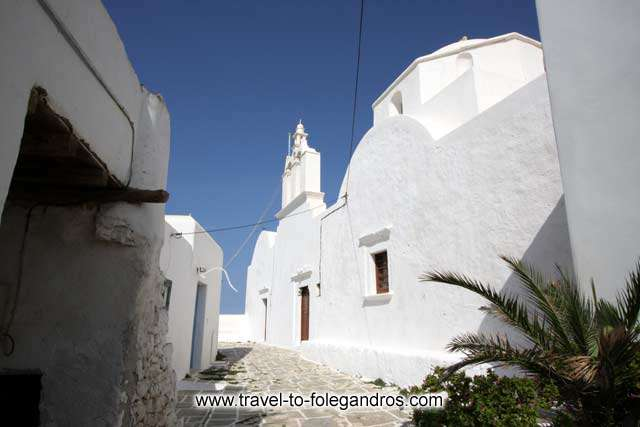 View of Pantanassa church at the northeast edge of the castle FOLEGANDROS PHOTO GALLERY - Pantanassa by Ioannis Matrozos